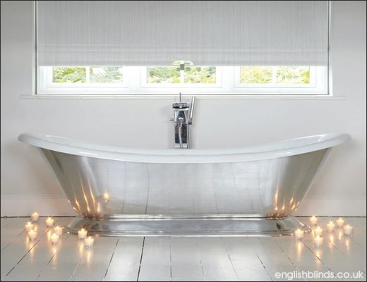 Choosing The Right Blinds For Your Bathroom English Blinds - Roman blind bathroom