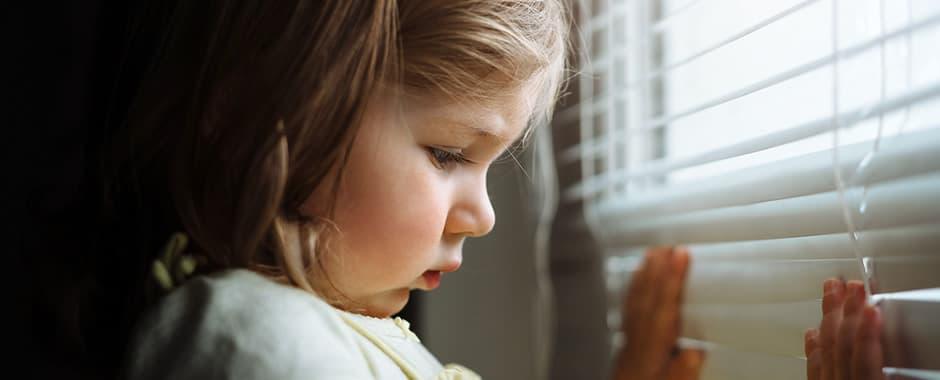 Making older window blinds child safe