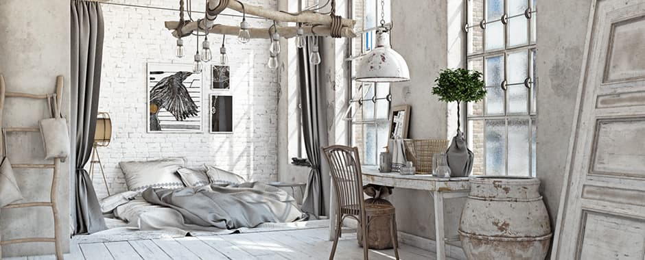 Inspirational shabby chic bedroom