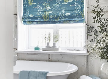 Although Not Water Resistant, Roman Blinds Do Look Fabulous At A Bathroom  Window. They Are Only Suitable If They Are Not Going To Get Wet Or Be  Subjected To ...