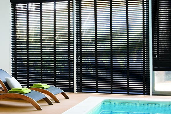 wooden blind - Blinds For Patio Doors