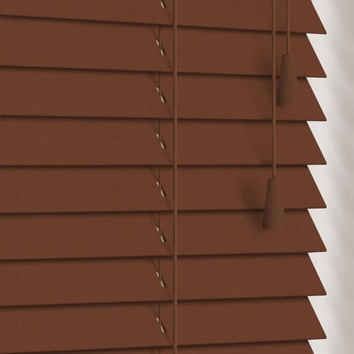 25mm Pecan Wooden Blind