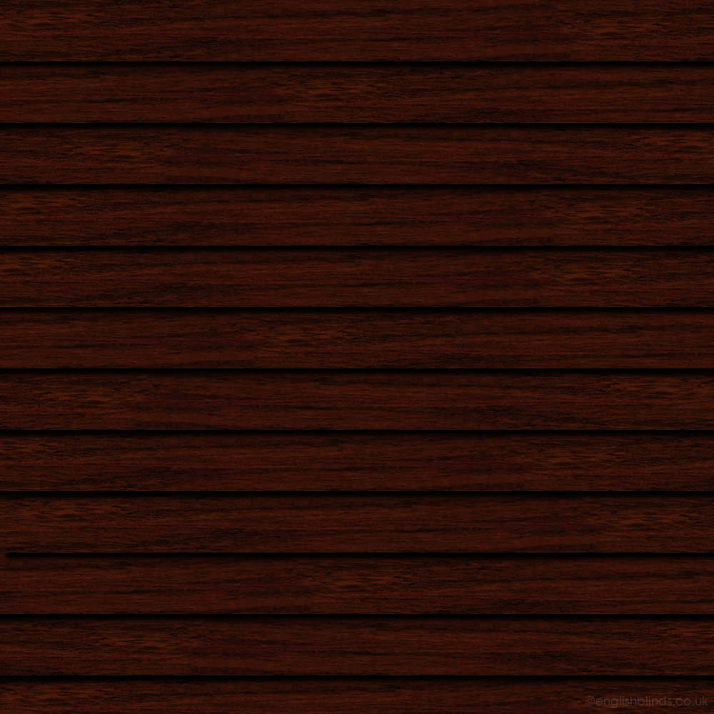 Wood Effect Dark Walnut Venetian Blinds Luxury Metal