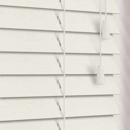 Off White Textured Faux Wood Pvc Venetian Blinds 35mm