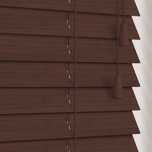 Walnut Faux Wood Venetian Blinds 35mm Made To Measure