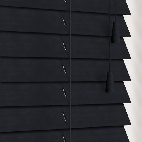 35mm Almost Black Wooden Blind