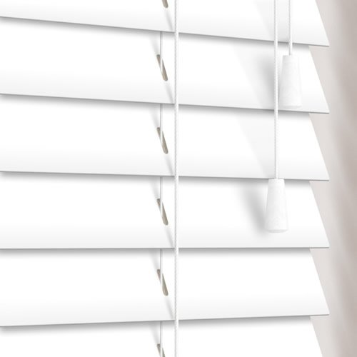 50mm Pure White Wooden Blind