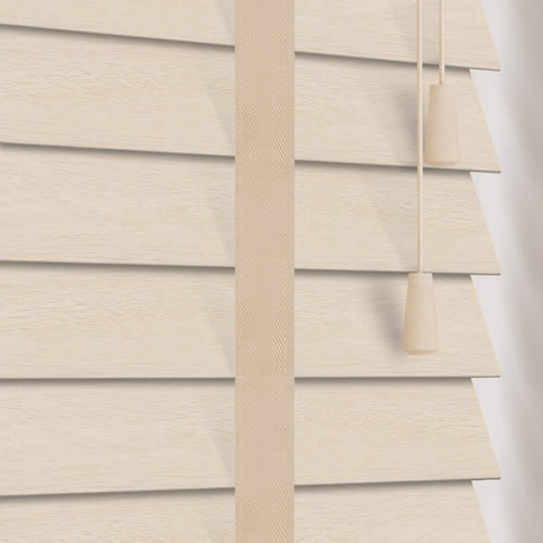 50mm Calico & Malt Faux Wood Wooden Blind