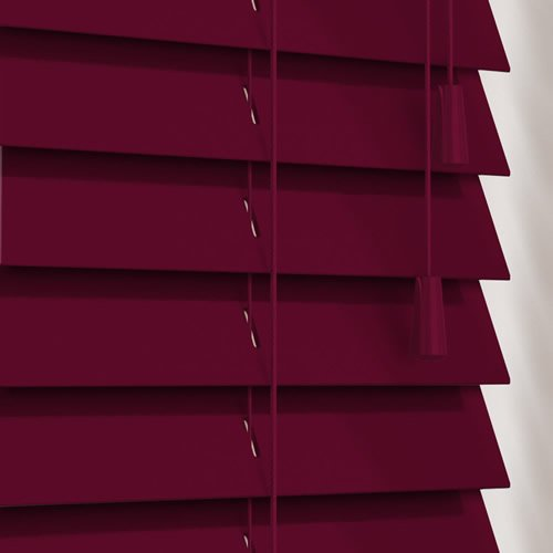 50mm Gloss Plum Wooden Blind