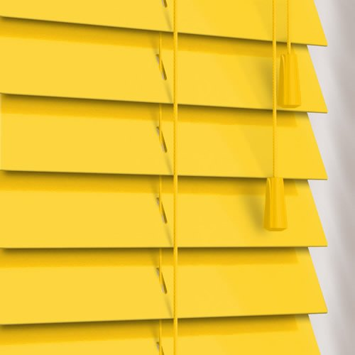 50mm Gloss Yellow Wooden Blind