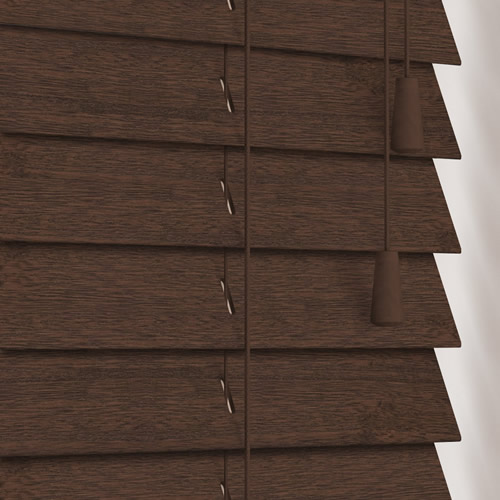 50mm Fired Walnut Wooden Blind