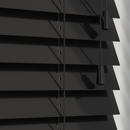 50mm Gloss Black Wooden Blind