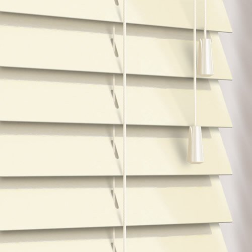 50mm Gloss Eggshell Wooden Blind
