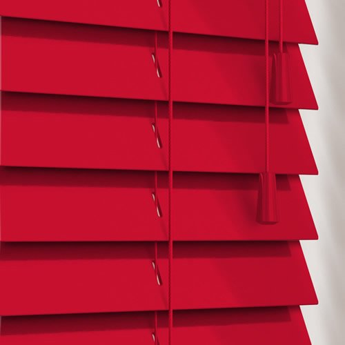 50mm Gloss Red Wooden Blind