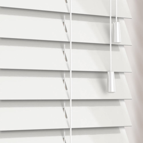 50mm Gloss White Wooden Blind
