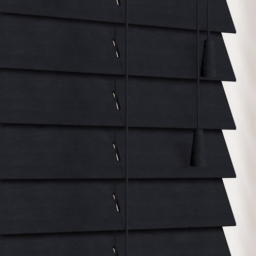 50mm Almost Black Wooden Blind