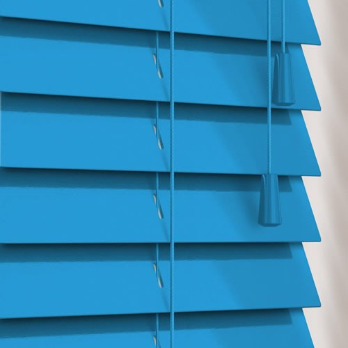 50mm Gloss Blue Wooden Blind