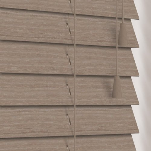 50mm Native Grey Wooden Blind