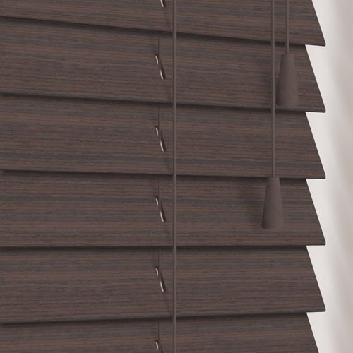 50mm Native Dark Walnut Wooden Blind