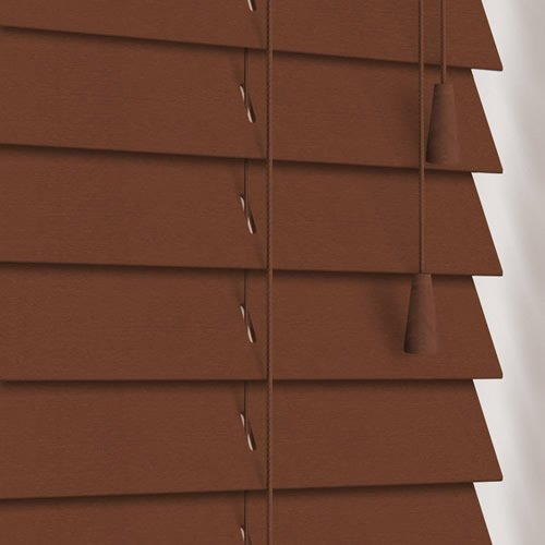 50mm Pecan Wooden Blind