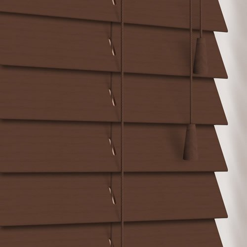 50mm Walnut Wooden Blind