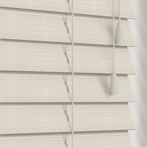 50mm Rustic Pale Grey Wooden Blind