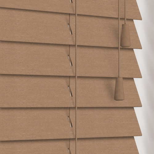 50mm Tawny Wooden Blind