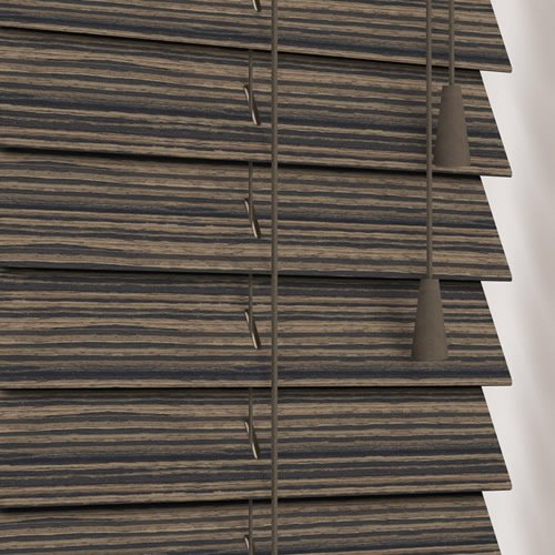 50mm Zebra Maple Wooden Blind