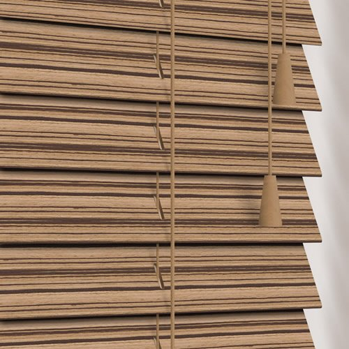 50mm Zebra Natural Wooden Blind
