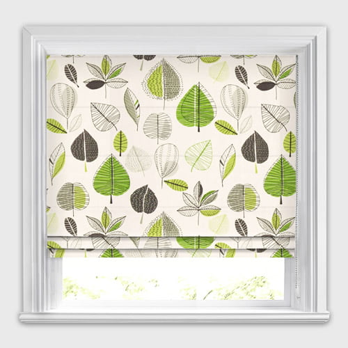 Kitchen Blinds Apples Amp Leaves Patterned Lime Green Roman