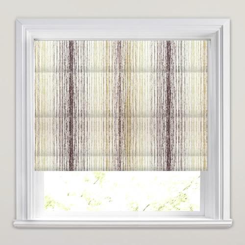 Beige Grey Amp White Modern Stripy Printed Roman Blinds