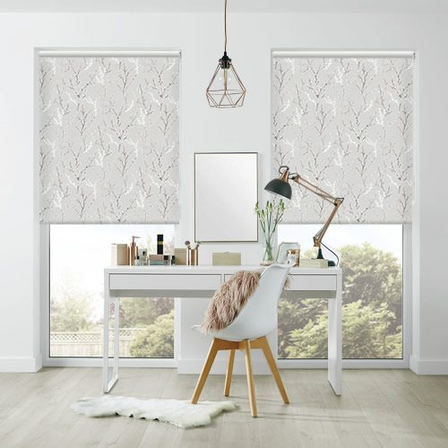 Watercolour Willow Patterned Blackout Roller Blinds In