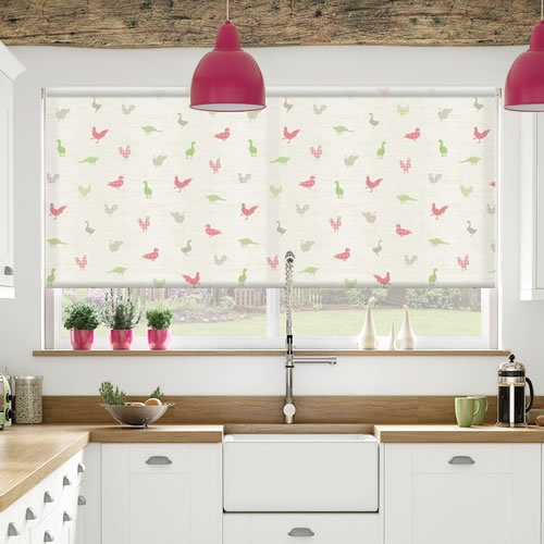 Kitchen Roller Blinds Made To Measure: Birdies Apple Roller Blinds, Made To Measure