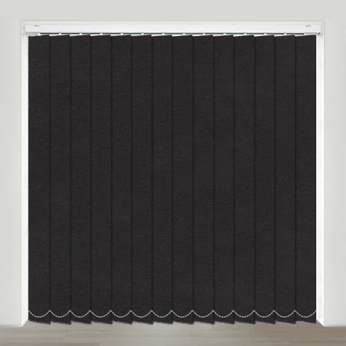 Nubuck Black Vertical Blind