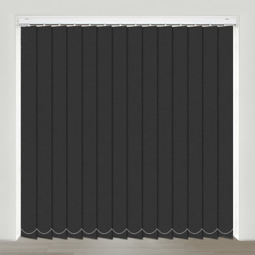 Mono FR Black Vertical Blind