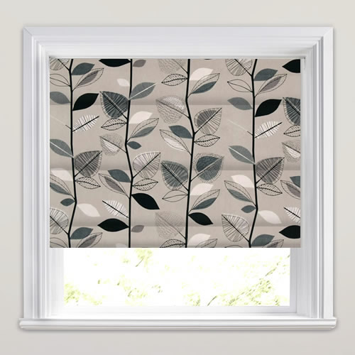 Autumn Leaves Sable Roman Blind