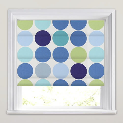 Spot On Petrol Roman Blind