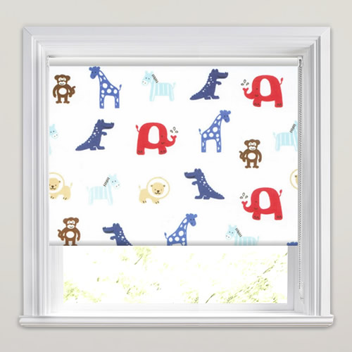 Animal Farm Blue Roller Blind