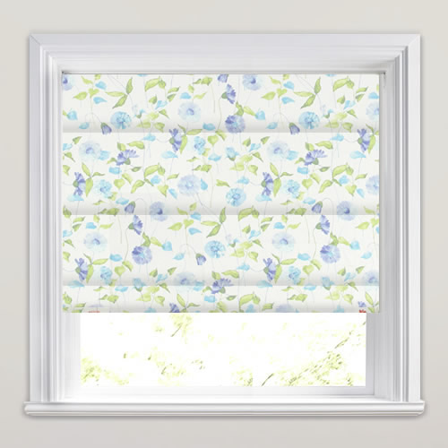 Daisy Chain Cornflower Roman Blind