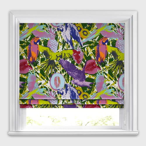 Guadeloupe Jungle Roman Blind