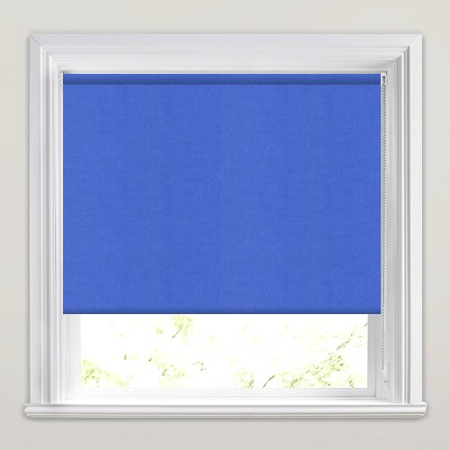 Bright Blue Blackout Blinds Ideal For A Kids Bedroom
