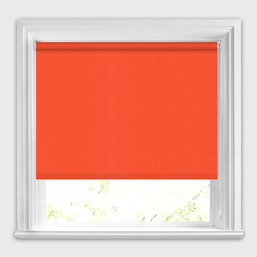 Neo Bright Vibrant Orange Roller Blinds Made To Measure