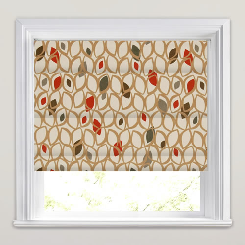 Cedar Red Berry Roman Blind