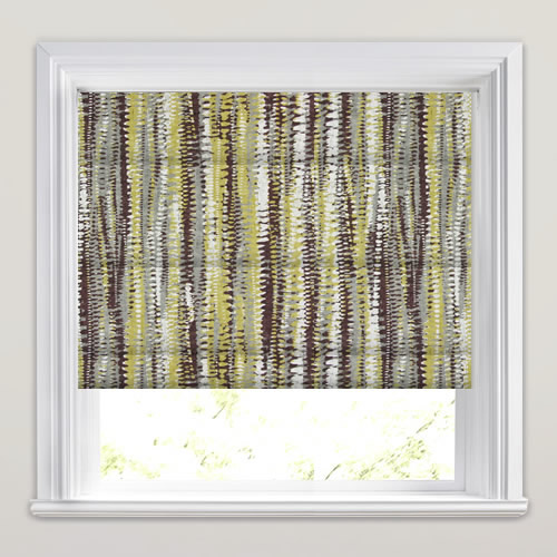 Brown Yellow Taupe Amp White Aztec Patterned Roman Blinds