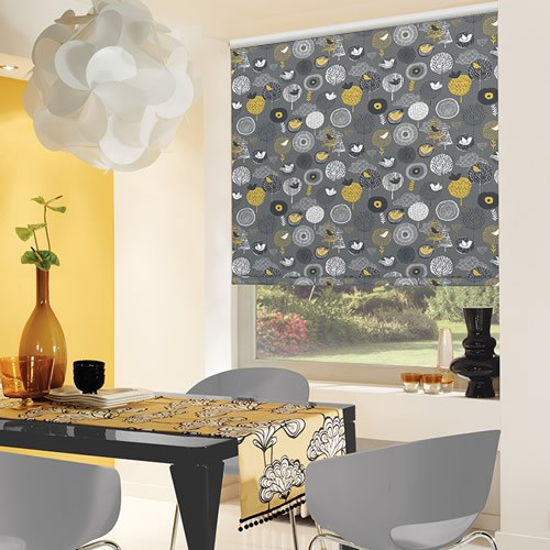 Scandi Birds Flowers Amp Trees Patterned Roller Blinds In