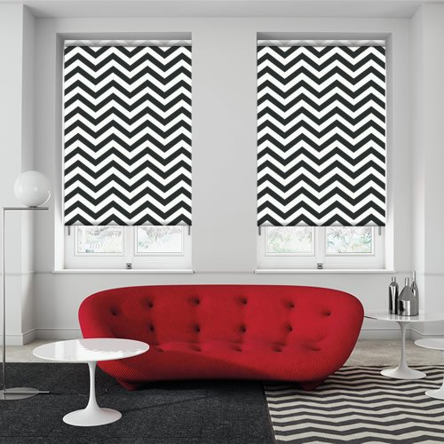 Chevron Chic Noir Roller Blinds Made To Measure