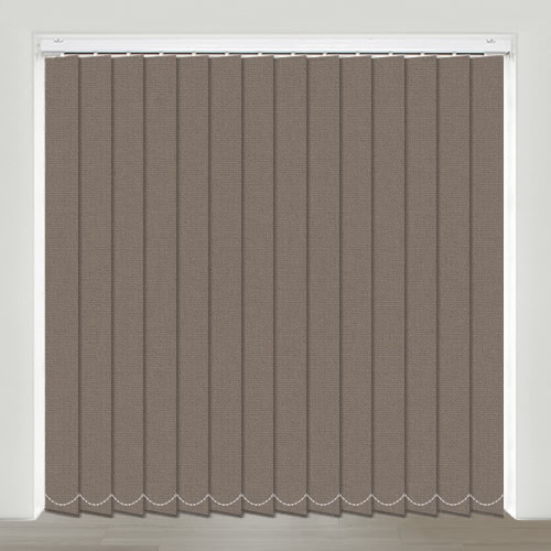 Mono FR Chocolate Vertical Blind