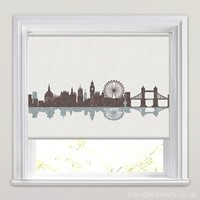 New York Skyline Patterned Roller Blinds In Cream Amp Blue