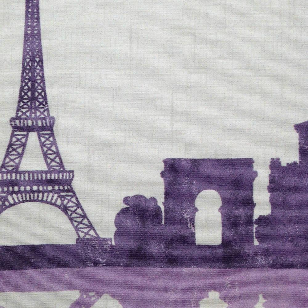 Paris Skyline Patterned Roller Blinds In Purple Lilac Amp Cream