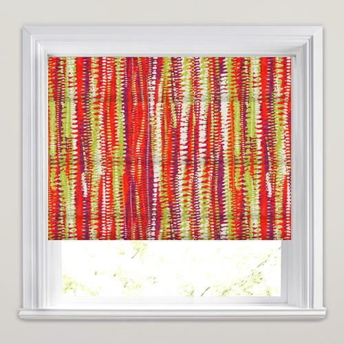Colourful Ikat Inspired Funky Digitally Printed Roman Blinds